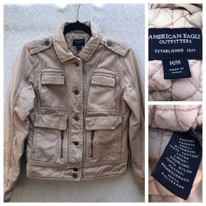 American Eagle Padded Jacket Tan